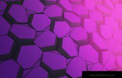 六边形几何图形技术主题背景图素材
