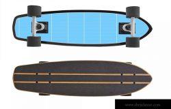 滑板外观设计俯视图&底部图样机模板