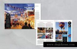 旅行风景主题杂志排版模板 Traveling Magazine