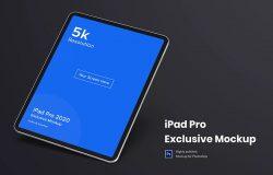 新款iPad Pro 2020平板电脑样机模板