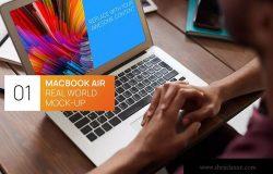 Macbook Air实景使用场景样机模板