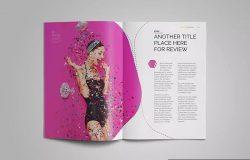 潮流时尚杂志排版设计InDesign模板 InDesign Magazine Template