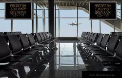 机场航站楼电视屏幕广告设计效果图样机