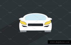 极简手绘汽车插画设计素材 Car