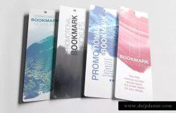 促销广告书签样机模板 Promotional Bookmark Mockup
