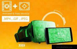 虚拟现实VR眼镜智能设备动画样机