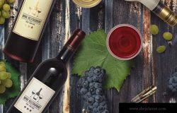 葡萄酒-厨房场景样机生成器