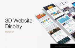 网站设计展示多维演示样机模板