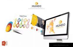 企业项目数据统计分析PPT模板 Mundo Powerpoint Template