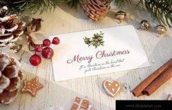 圣诞节日贺卡样机模板 Christmas Card Mockup ZZH / 2019.5.20 印刷品样机  70  0  0