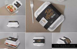 一次性食品快餐盒泡沫包装样机