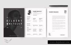 极简创意个人简历设计模板 Creative Resume & CV Template
