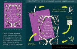 儿童故事书引语装饰素材 Children's Story Book Quote Design