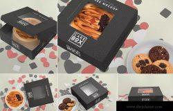 5款高端品牌蛋糕包装盒子样机 5 Lovely Cake Box Mockups