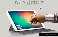 iPad Pro响应式UI设计演示设备样机 iPad Pro Responsive Mockup