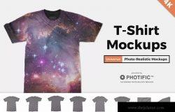 印花设计演示T恤服装样机 T-Shirt Mockups