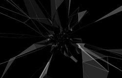 点线连接不规则突触几何图形