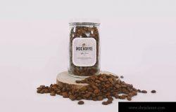 咖啡豆存储玻璃罐样机模板