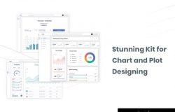 现代简洁金融电子商务比特币信息图表数据分析仪表板UI工具包