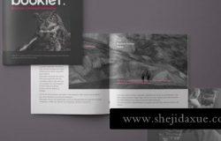 书籍杂志模型PSD贴图模板Square Psd Brochure Mockup