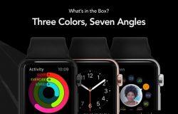 高品质苹果智能手表iWatch贴图样机模型HERO