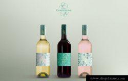 酒瓶模型PSD贴图模板Wine Bottles Mockup