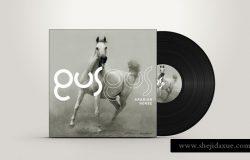 光碟唱片包装模型PSD贴图模板PSD album cover