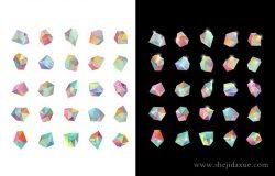 时尚潮人几何晶体图标 Crystals II