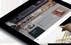 双配色时尚现代红酒饮料H5宣传推广web移动UI设计素材工具包Folio UI Kit