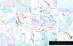 """大理石纸张纹理背景素材 素材说明 向您展示使用称为suminagashi的古老技术制作的第三个大理石纸纹理系列。它意味着""""漂浮的墨水"""",它是日本的用水和墨水大理石花纹的艺术。这些复杂的图案首先在墨水和刷子的水面上诞生,然后转移到一张纸上。没有两件作品会相同,所以每件作品都是独一无二的。  看一下制作这些纹理的过程:https: //www.instagram.com/p/4_isRuwAJX/  这些纹理非常适合任何类型的纸制品,网页设计,包装,品牌等。它们功能多样且独一无二,它们将使您的项目脱颖而出。 这个包包括50个JPG纹理和一个方便的PDF指南。 所有纹理在300dpi时为6000×4000像素(~20×13.3英寸"""