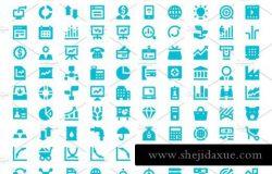 市场和经济图标素材 125 Market and Economics Icons Set