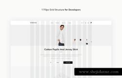 现代时尚艺术主题服装服饰设计师工作室展示PSD网页模板Forever Fashion Theme UI Kit