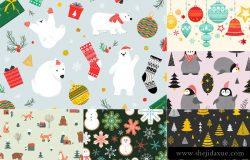 2019 暖冬圣诞节元素图案插画合集包