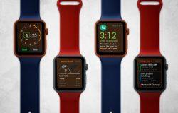 高品质Apple Watch样机VI展示PSD模型MockupsApple-watch-mockup#180601