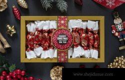 圣诞节糖果礼盒包装样机素材下载