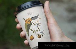 咖啡品牌设计展示纸杯样机