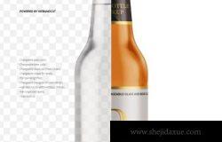 啤酒瓶设计展示样机素材