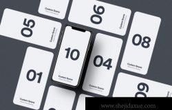 iPhone 11 Pro 多个角度UI设计组合场景样机素材