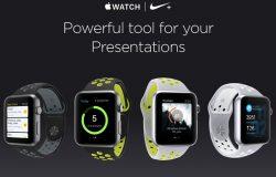 多角度运动品牌耐克苹果iWatch手表贴图样机模型Apple Watch Nike Volt