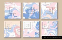 大理石纹理背景贺卡明信片矢量模版素材