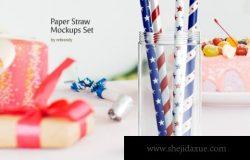 精美的节日礼品包装纸设计展示样机素材下载