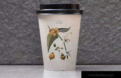 咖啡纸杯设计品牌Logo预览样机模板 Coffee Branding Mockup