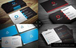 12款现代企业创意商务名片模板 12 Modern Business Cards – Bundle v2