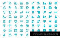 美容SPA矢量图标 180 Beauty and Spa Material Icons