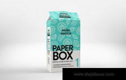 谷物或麦片纸盒包装盒设计样机