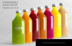 果汁瓶外观包装设计样机模板
