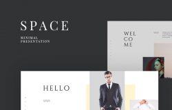 服装服饰室内艺术设计空间展示主题演讲幻灯片演示文稿Space Presentation