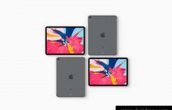 苹果iPad顶视角度样机展示模版