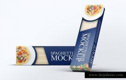 意大利面条盒子包装设计VI样机展示模型mockups模拟