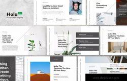 极简创意公司简介Keynote幻灯模板 Hola – Minimal & Creative Keynote Template